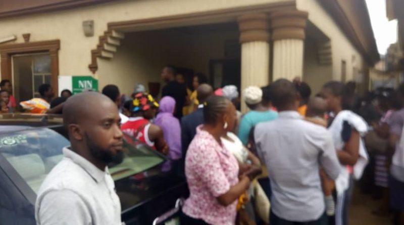 Registrants at NIMC Centre in Lagos