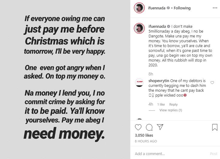 Screenshot 7503 - Ifu Ennada Begs Her Debtors To Pay Up (Photo)