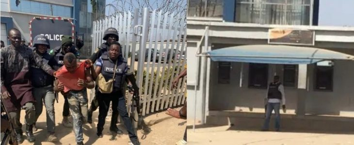 Photos from the Abuja bank robbery scene