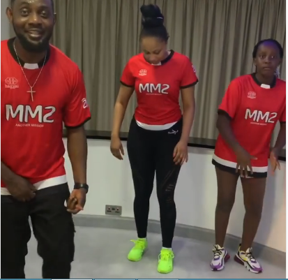 AY comedian, wife and daughter while dancing 'Tesumole'