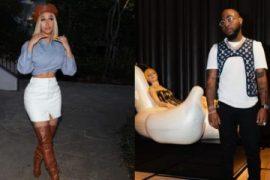 Collage photo of American singer Cardi B and Nigerian singer, Davido