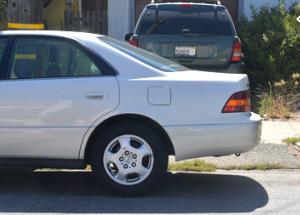 File photo of a car blocking a drive way