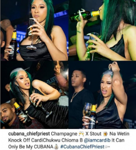 cad 271x300 - What Cardi B Mixed With Her Stout That Knocked Her Off: Cubana Chief Priest