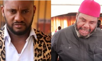 Collage photo of Pete Edochie and Yul Edochie