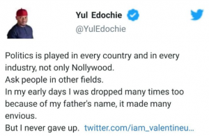 edd 9 300x196 - My Father's Name Made Me Lose Acting Role: Yul Edochie Reveals