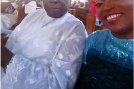 Funke Akindele and late dad