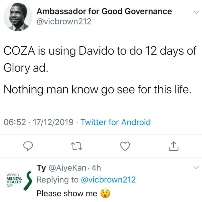 f4559f427b7d0b0732176d23a35a27e4 - Nigerians Reacts As Davido Is Spotted In COZA Church Promotional Video