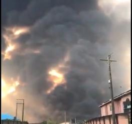 Pipeline Explosion Rocks Igando Area Of Lagos (Video)
