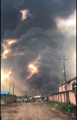 Scene of the explosion at Igando