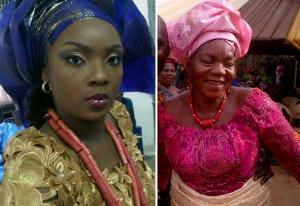 Chioma Akpotha and her mom, Grace Egoyibo Chukwuka