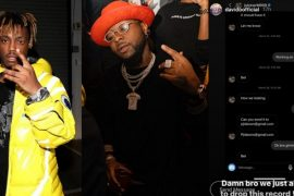 Collage photo of Davido and American singer, Juicy Wrld