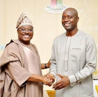 Collage photo of Abiola Ajimobi and Governor Seyi Makinde