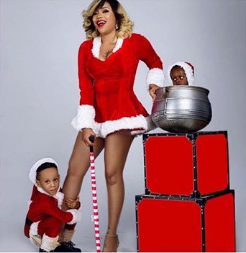 Toyin Lawani and children