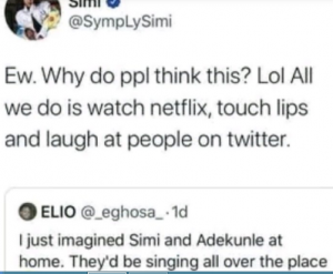 si 300x247 - All We Do Is Watch Netflix, Touch Lips, Laugh At People On Social Media: Simi Speaks On Happenings In Her Marriage