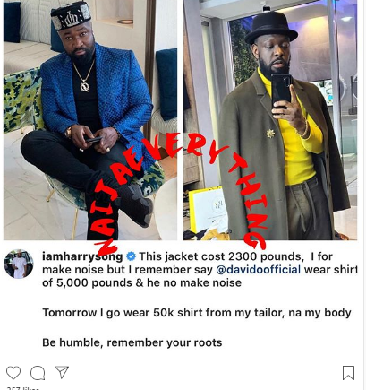 so 3 - Harrysong Shades Timaya As He Flaunts His N11m Jacket (Photo)