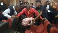 Omoyele Sowore in the court room