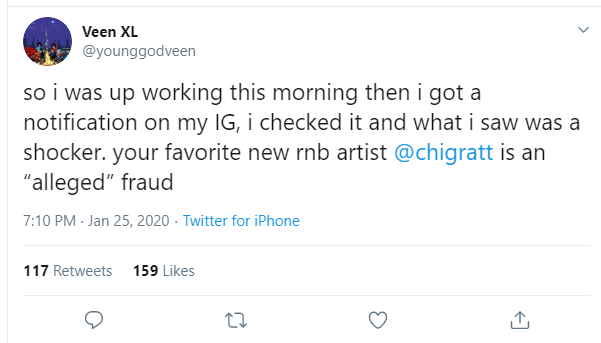 1 26 - Upcoming Act, Chigratt Accused Of Stealing ALL The Songs Compiled In His Albums