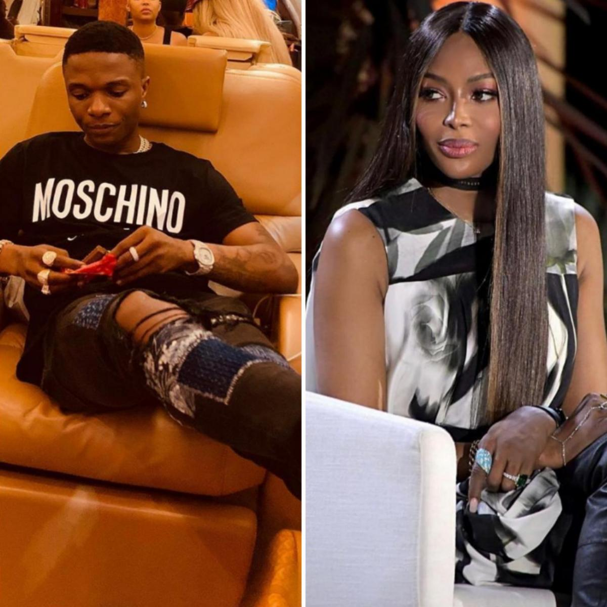 Wizkid and Naomi Campbell