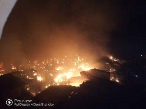 Akesan market fire