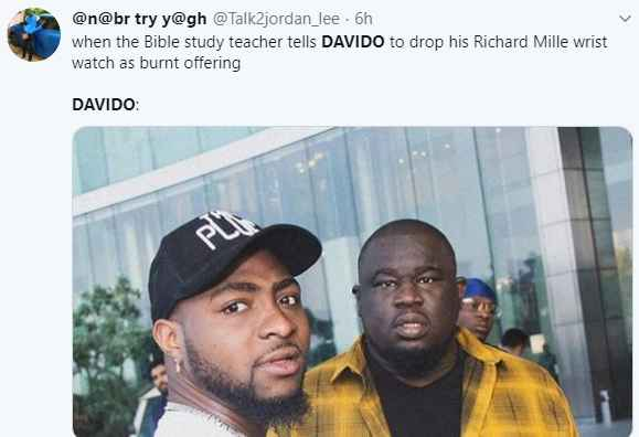 5e1d5ab720a0a - Fans Reacts As Davido Attends Bible Study (Photos)