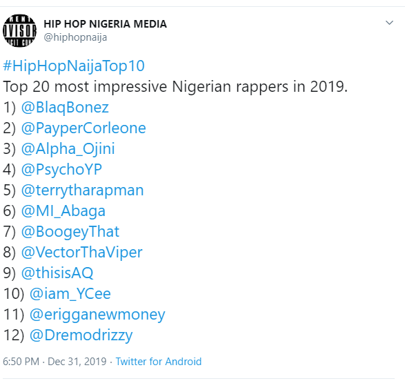 Rappers list