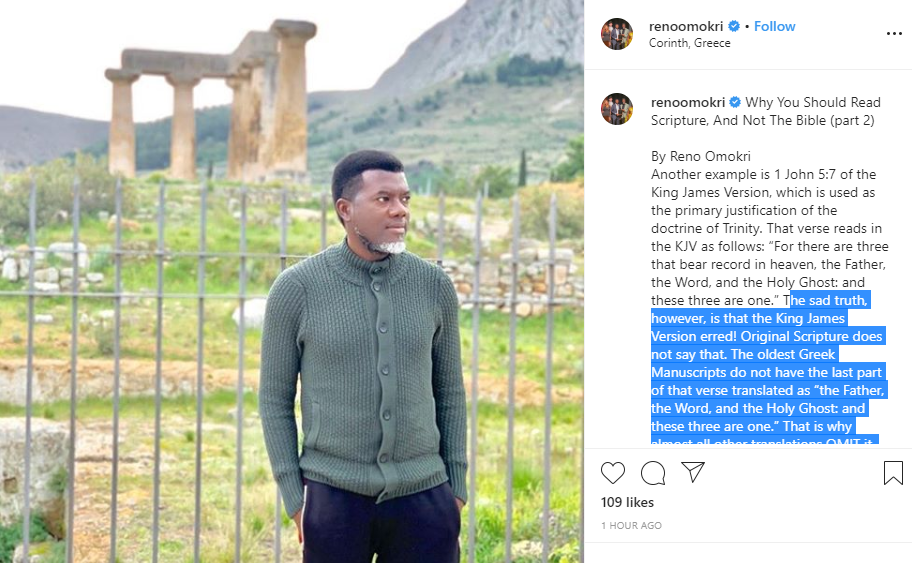 Capture 38 - Why You Should Read Scripture, And Not The Bible – Omokri