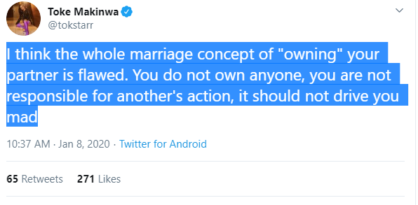 Capture 68 - You Do Not Own Your Partner In Marriage – Toke Makinwa