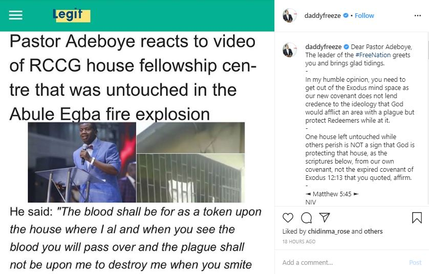 Daddy Freeze's Post