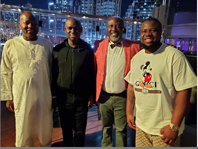 Dino Meaye and friends at his birthday party in Dubai