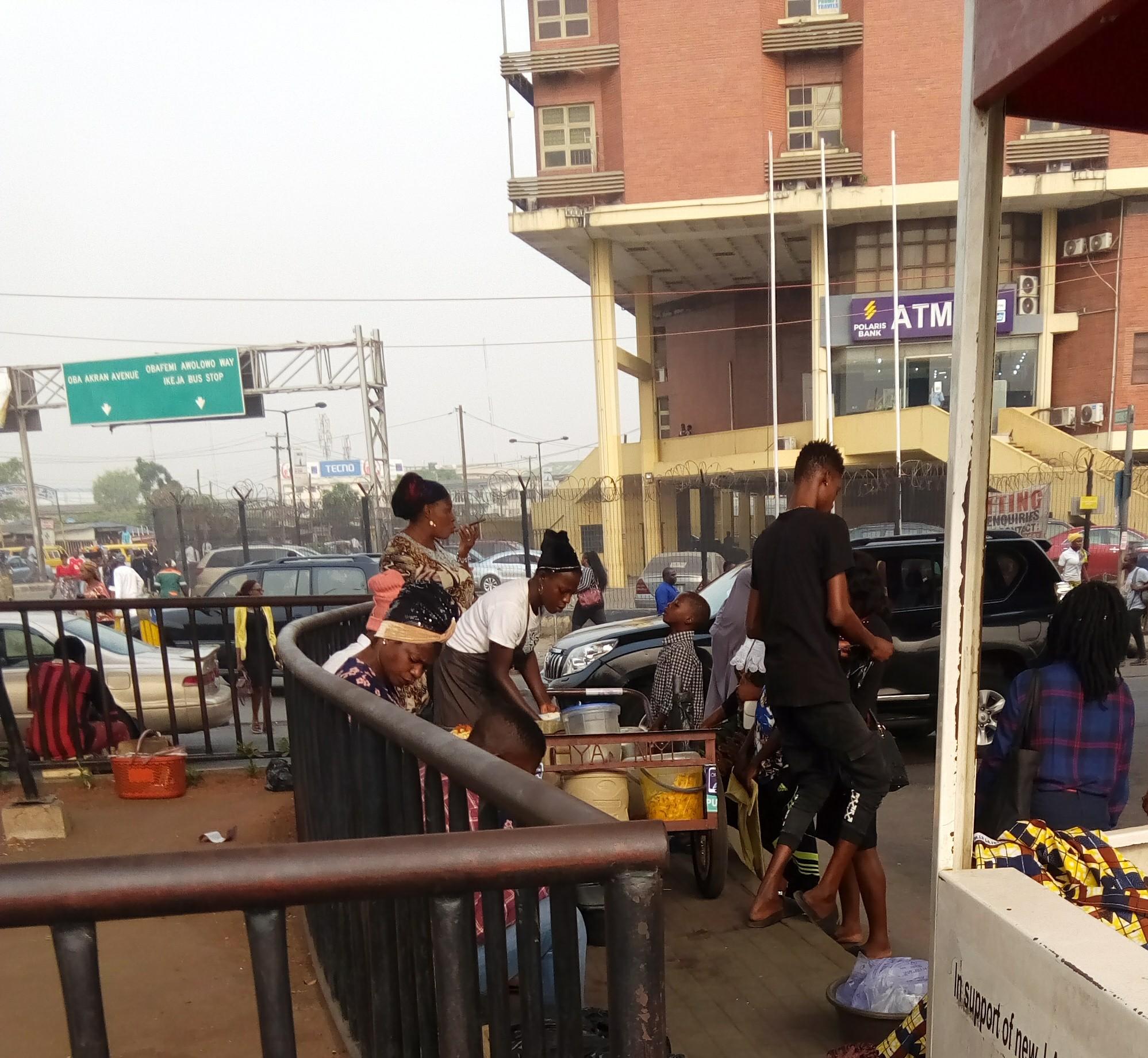 food vendor at Ikeja