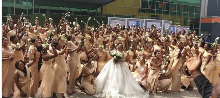 Sandra Ikeji marries with 200 bridesmaid