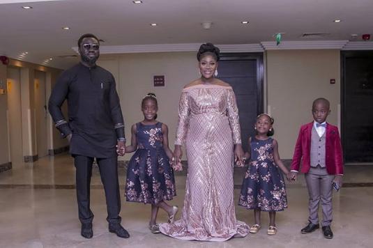 Prince Odi Okojie, his wife, Mercy and children