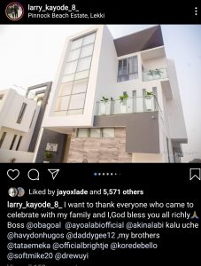 Screenshot 20200109 124154 Instagram 227x300 - Nigerian Striker, Olanrewaju Kayode Unveils Multi-million Naira Mansion