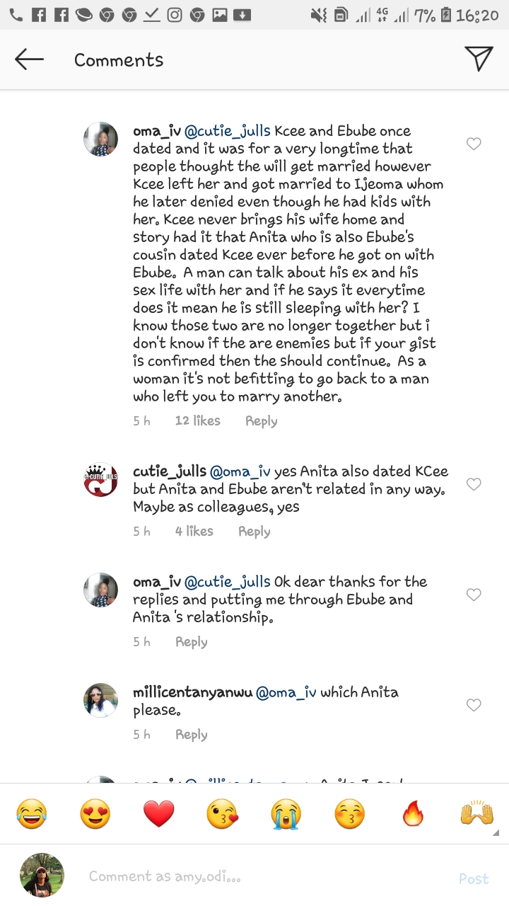 Screenshot 20200109 162033 Instagram - Instagram Blogger Claims Singer, Kcee Is Romantically Involved With Two Women (Photo)