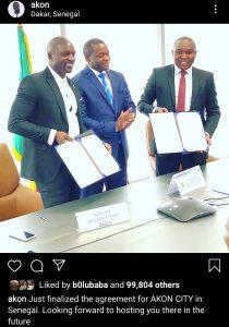Screenshot 20200114 134418 Instagram 210x300 - Akon To Establish Akon City In Senegal