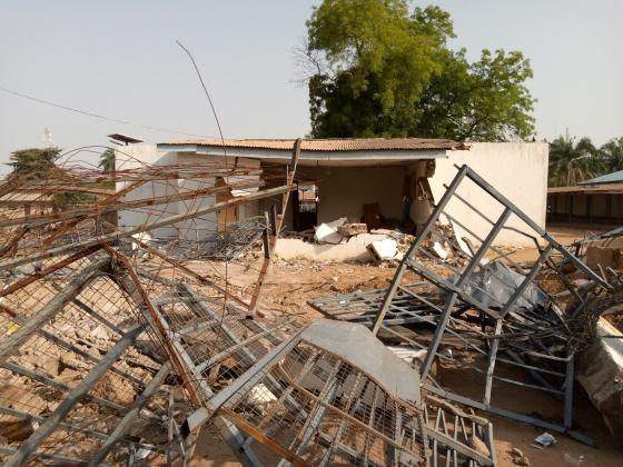 The demolished property