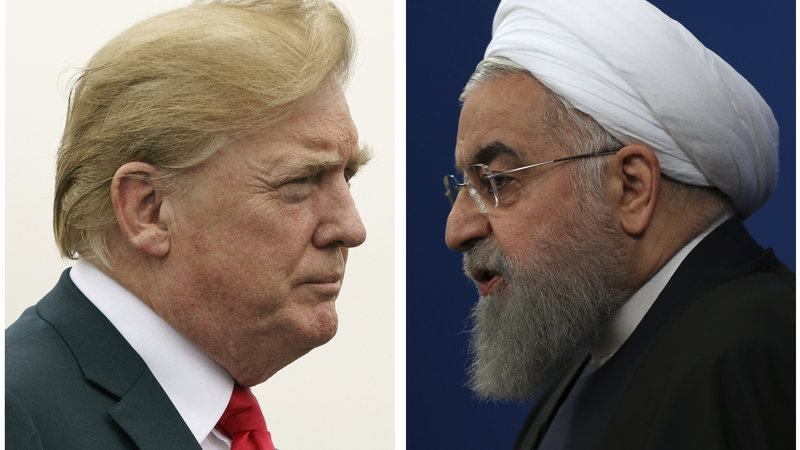 Trump and Iran President, Rouhani