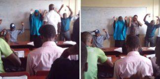 UNILAG lecturer asks students to kneel down