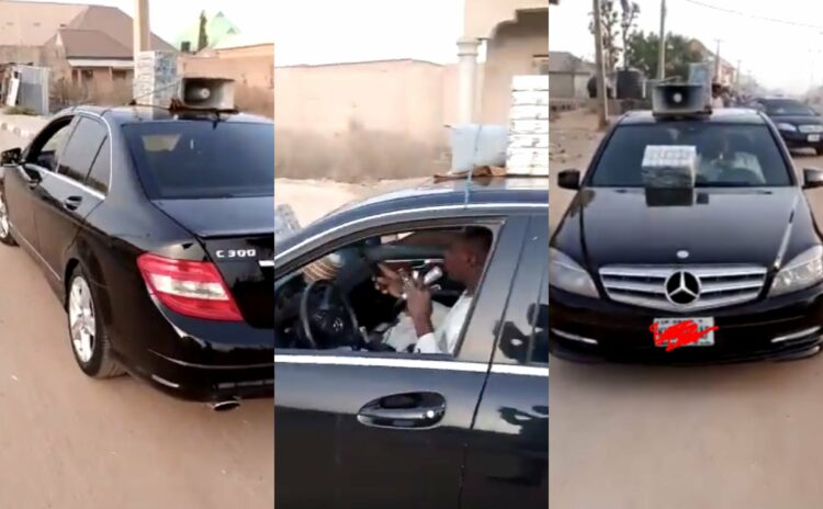 Man Sells Local Herbs By Roadside In C-Class Mercedes Benz (Video)