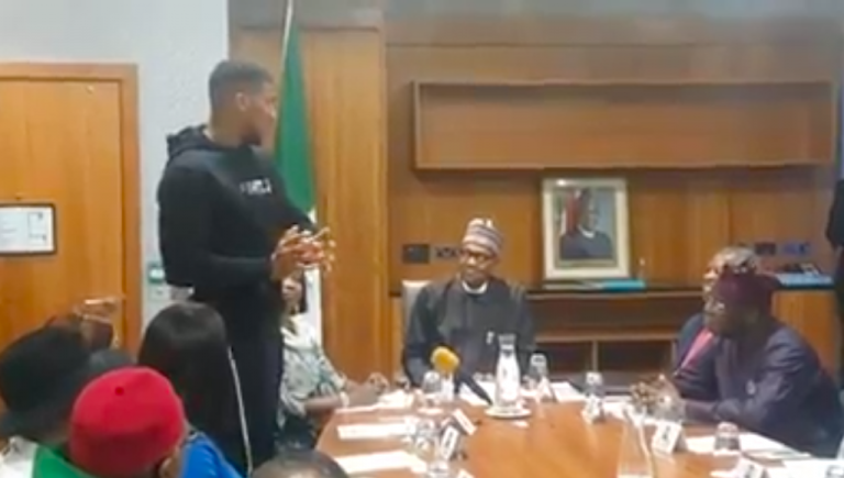 Anthony Joshua and President Buhari