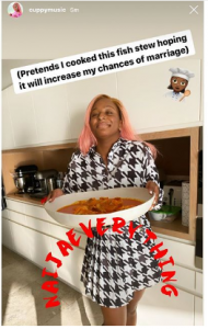 cu 1 190x300 - To Increase Her Chances Of Marriage In 2020, DJ Cuppy Starts To Pretend (Photo)