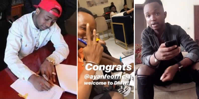 Davido and his latest signee, Ayanfe