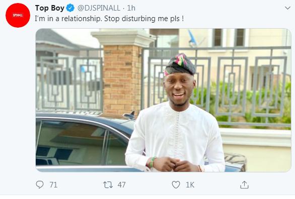 DJ Spinall's tweet