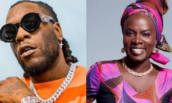 Burna Boy and Angelina Kidjo