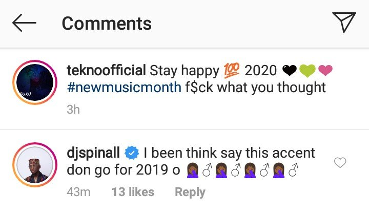 DJ Spinall's comment