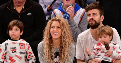 Barcelona defender, Gerard Pique, Shakira and two children