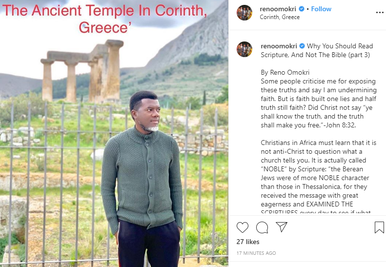n 4 - Why You Should Read Scripture, And Not The Bible – Omokri