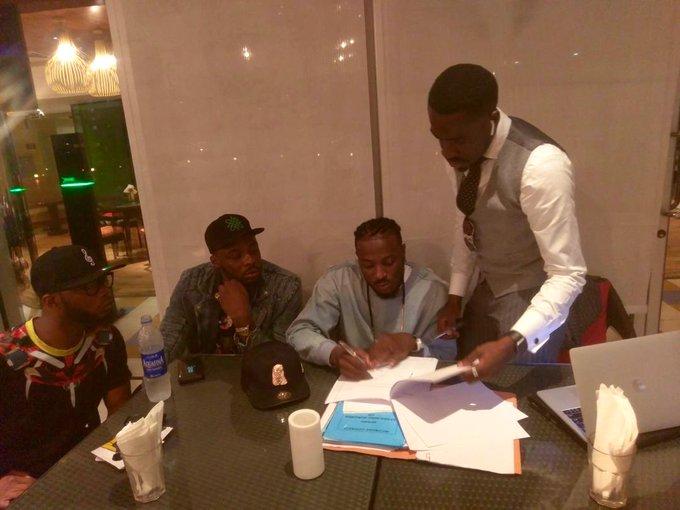 Peruzzi, King Patrick while Davido was signing him