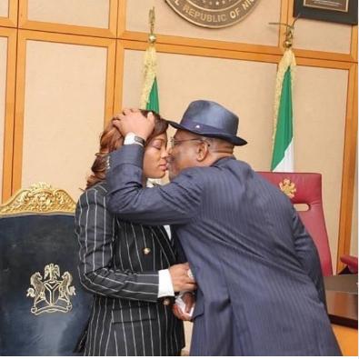 Governo, r Nyesom Wike and wifeJustice Eberechi Nyesom-Wike