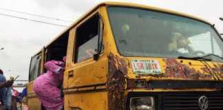 Danfo bus in Lagos